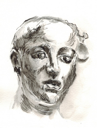 study of a plaster bust by husdant