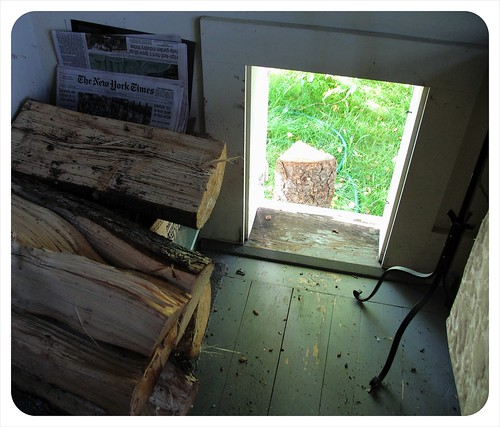 exciting firewood door