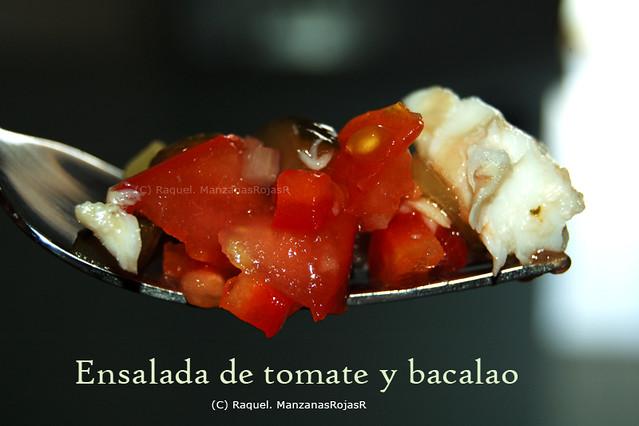 Ensalada de tomate y bacalao