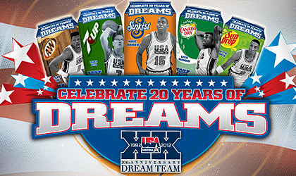 2012 Dream Team collector cans