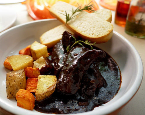 Beef Stew in Casserole with Chocolate at Tuscano Italian Wood Oven Pizza & Restaurant