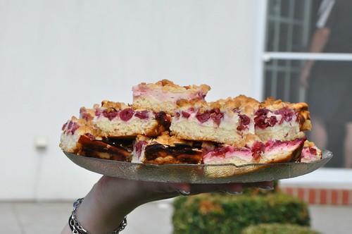 Quark Kirsch Kuchen  mit Streusel
