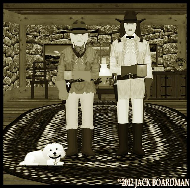 Susie and Chris meet in the headquarters room ©2012 Jack Boardman