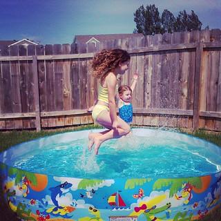 Splashin' like crazy!