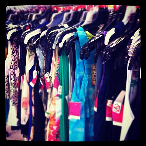 row of clothes