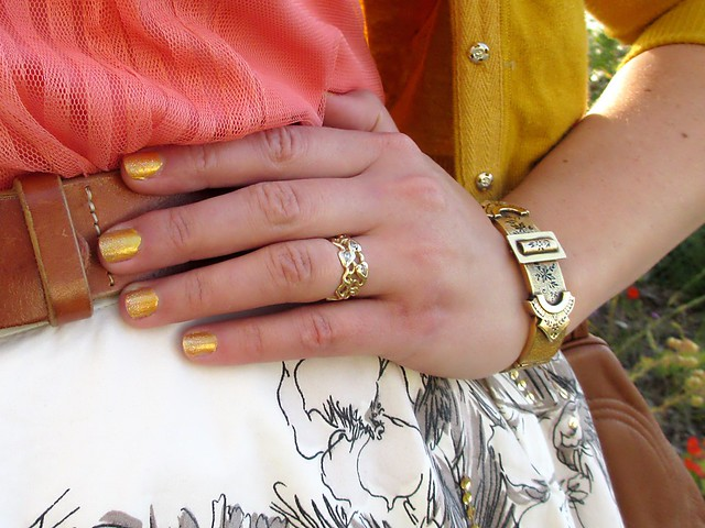 Gold jewelry and nails. Photo by Pat Zimmerman.