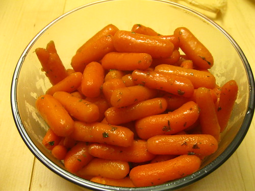 Finished Glazed Baby Carrots