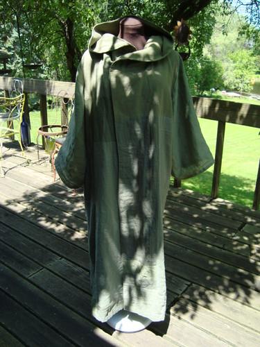 Green coat - front