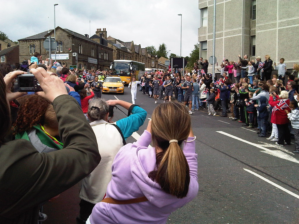Olympic Torch Comes to Huddersfield