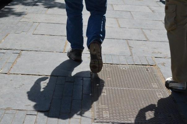 A strangers feet