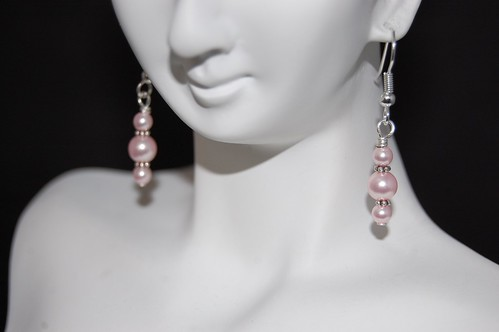 Pink Pearl Earrings