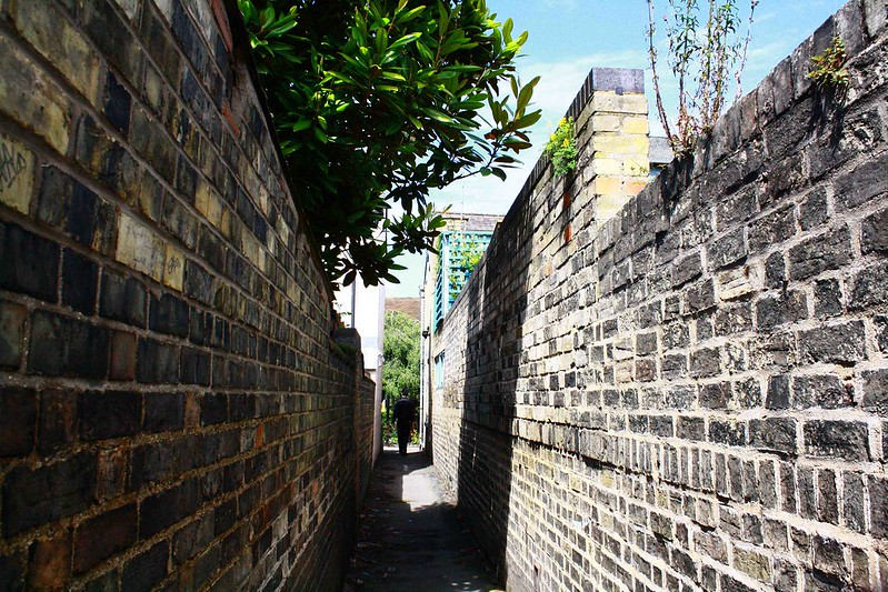 narrow path brick