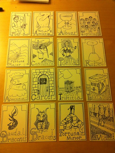 Cards for Geomancy