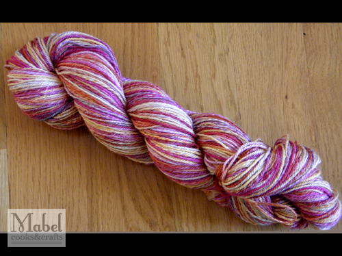 SS Handspun Superwash Merino in Cherry Peach