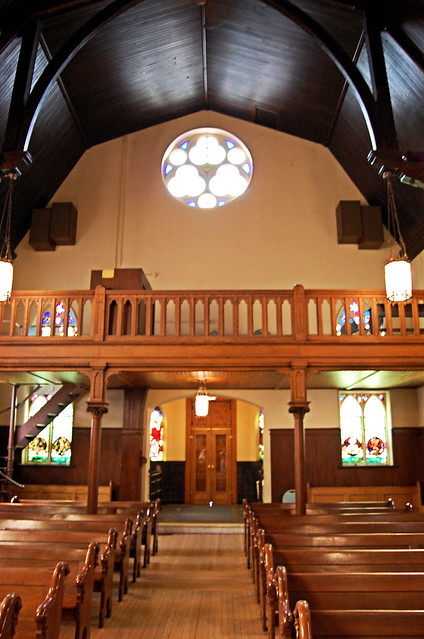 View to back of chapel with Baptismal addition