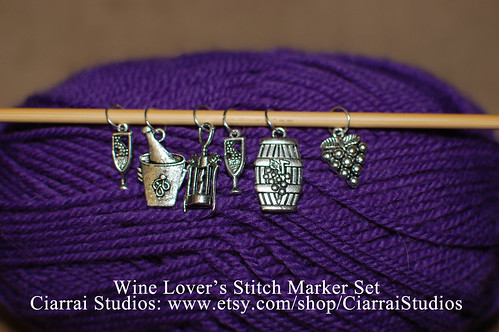 Wine Lover's Stitch Marker Set