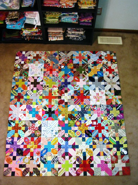 X & + Quilt Sewing Rows Detail 4