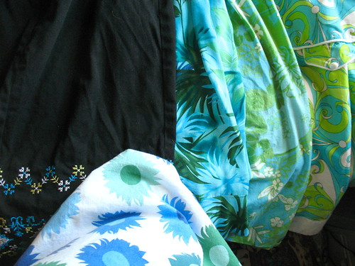 blue/green skirts