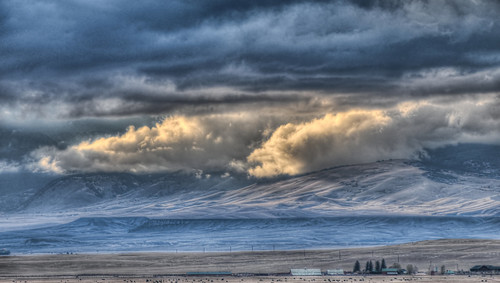 Clouds Over the Snowy Range Foothills