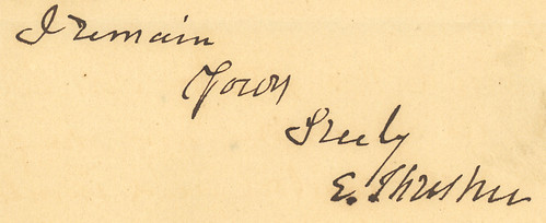 Ebenezer Thresher's signature, 1880