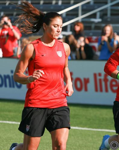 Hope Solo U.S. Women's Soccer Team Practice Dick's Sporting Goods Park by Corbin Elliott Photography