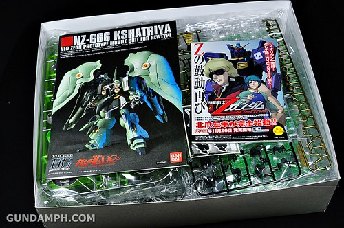 HGUC Kshatriya Pearl Clear (green) Binder Ver. Unboxing Pictures (5)