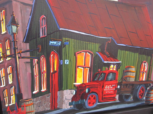 Mario Beaudoin paints Balzacs coffee