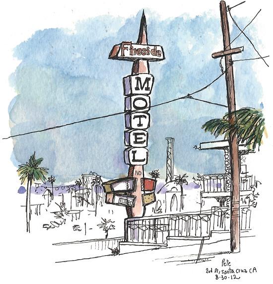 Santa Cruz Motel Sign
