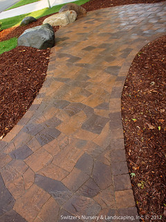 Beautiful outdoor living space... Paver Patio Sidewalk