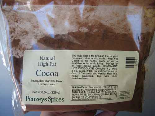 Penzey's Natural High Fat Cocoa