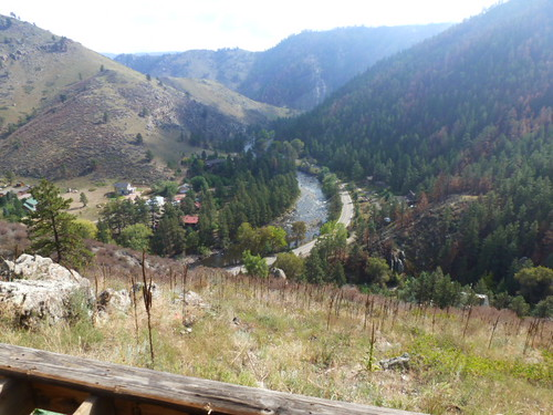 9-27-12 CO - Solley House 8, view of Poudre River from back deck
