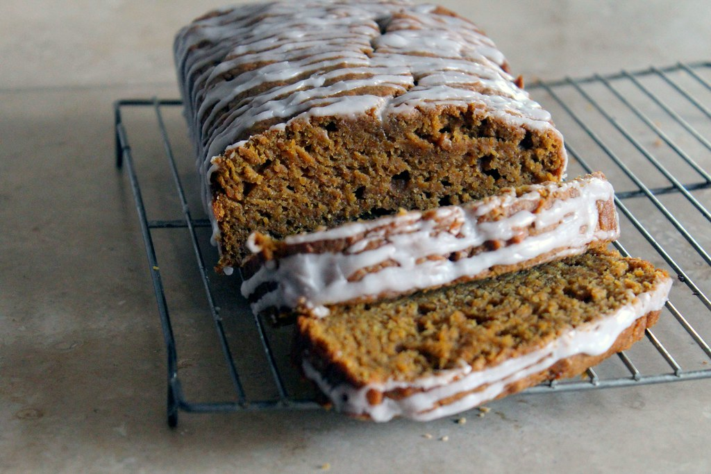 spiced, moist pumpkin bread