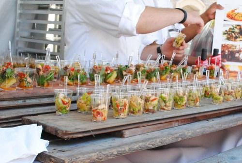 Soleto Trattoria & Pizza Bar chopped salad; salmon scallopini, tiramisu; strawberry shortcake