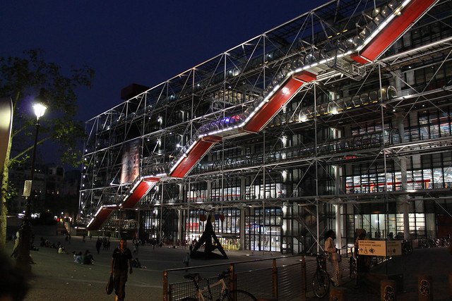 Centre Georges Pompidou by night