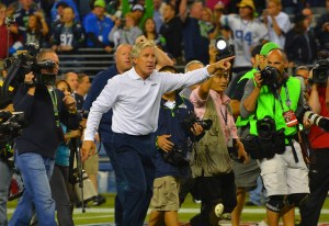 Seahawks head coach Pete Carroll