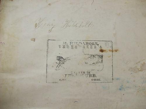 Stamp for H. Hildabolt Undertaker and Dealer in Furniture