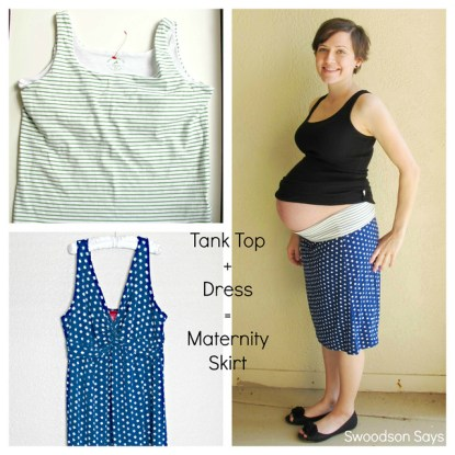 DIY Maternity Knit Skirt Refashion - Swoodson Says