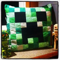 Minecraft Creeper pillow which I crafted today ...