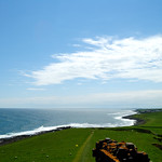 The view from the top of Dunstanburgh castle