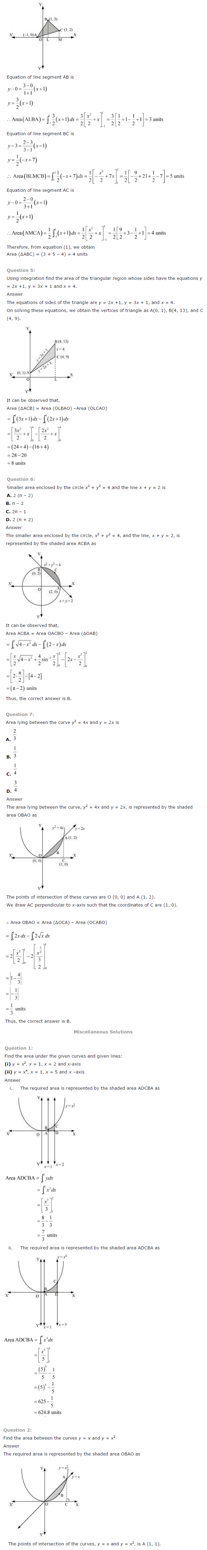 NCERT Solutions for Class 12 Maths Chapter 8 Application of Integrals ex 8.4