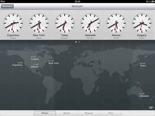 iPad-Uhr