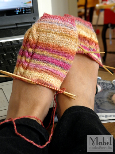 Simple Handspun Socks: Progress