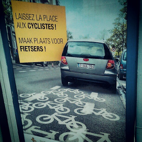 make place for the cyclists