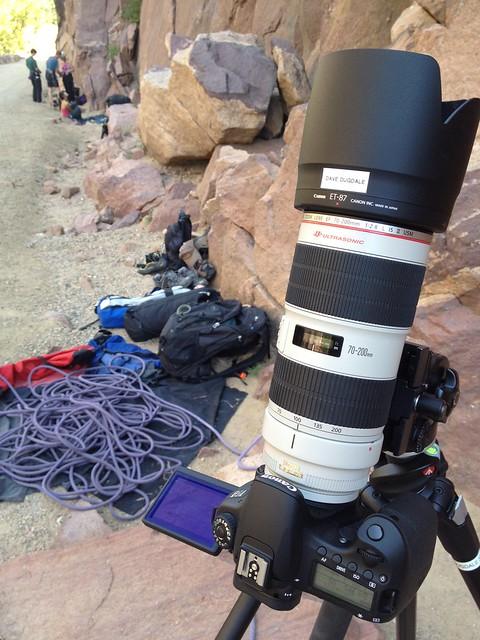 Rock climb video shoot