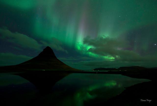 Kirkjufell Aurora Borealis