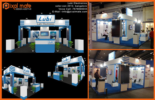 Exhibition Stall Layout : Lubi electronics exhibition 6×6 meter stall design bangalore