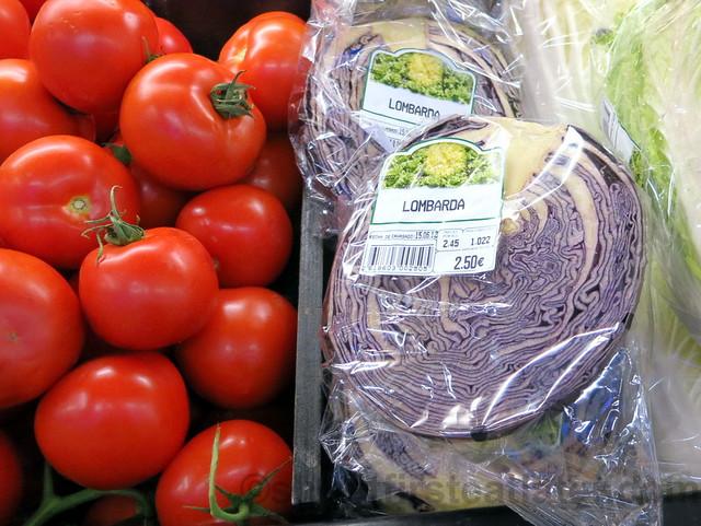 supermarket in San Sebastian- lombarda cabbage