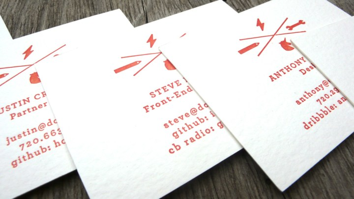 Letterpress business card: Dojo4 3/3
