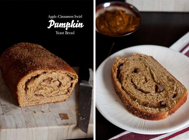 Apple-Cinnamon Swirl Pumpkin Yeast Bread