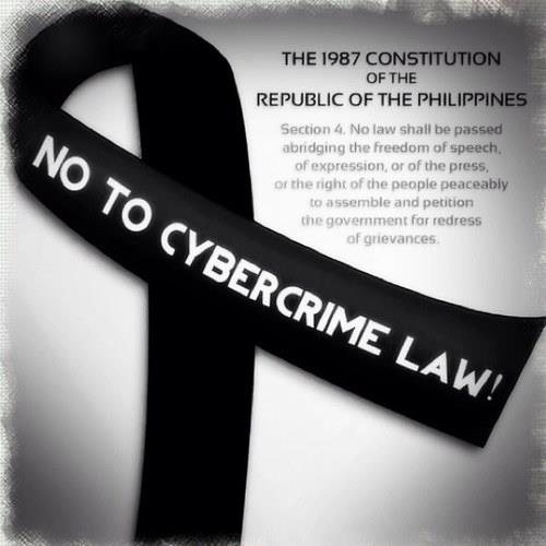 NO to  Republic Act No. 10175 or The Cybercrime Prevention Act of 2012